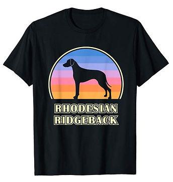 Vintage-Sunset-tshirt-Rhodesian-Ridgebac