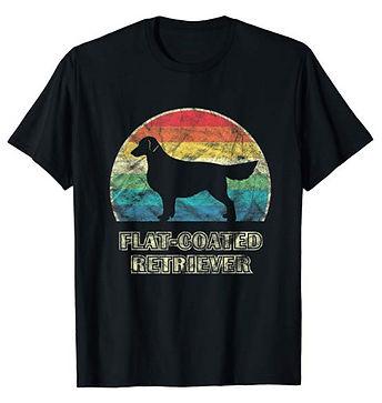 Vintage-Dog-tshirt-Flat-Coated-Retriever