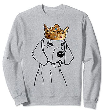 American-Foxhound-Crown-Portrait-Sweatsh