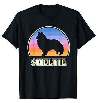 Vintage-Sunset-tshirt-Shetland-Sheepdog.