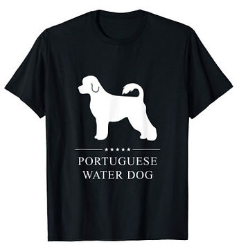 Portuguese-Water-Dog-White-Stars-tshirt.