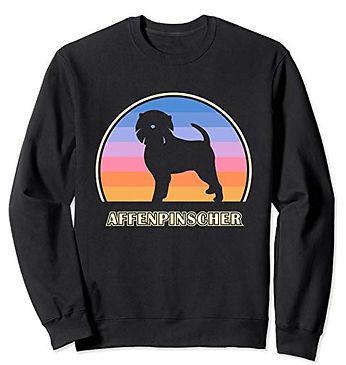Vintage-Sunset-Sweatshirt-Affenpinscher.
