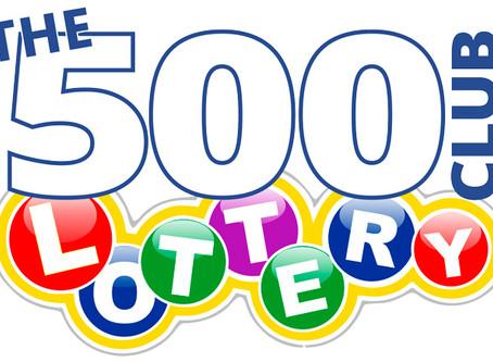 500 CLUB LOTTERY - LATEST