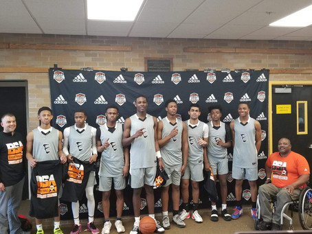 Congrats to the 10th grade team for winning the Championship at the Adidas Hoop Fest Tournament