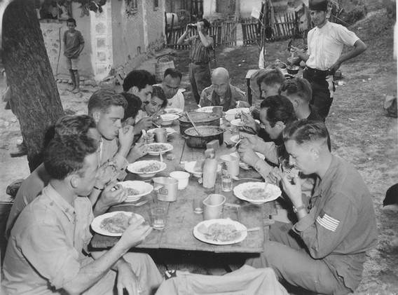 Breakfast, about a mile from a main highway which was in constant use by the Germans. 12. Sept. '44