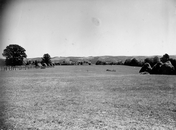 Emergency evacuation field used on 17. September '44, Koceljeva, near Valjevo, Serbia. Two C47 evacuated twenty American airmen, the two Medical Officers and two assistants, a French pilot, an Italian Soldier and photographer J.B. Allin.