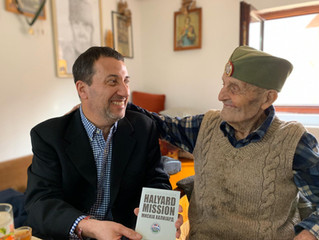 Visit to surviving veteran of Halyard mission