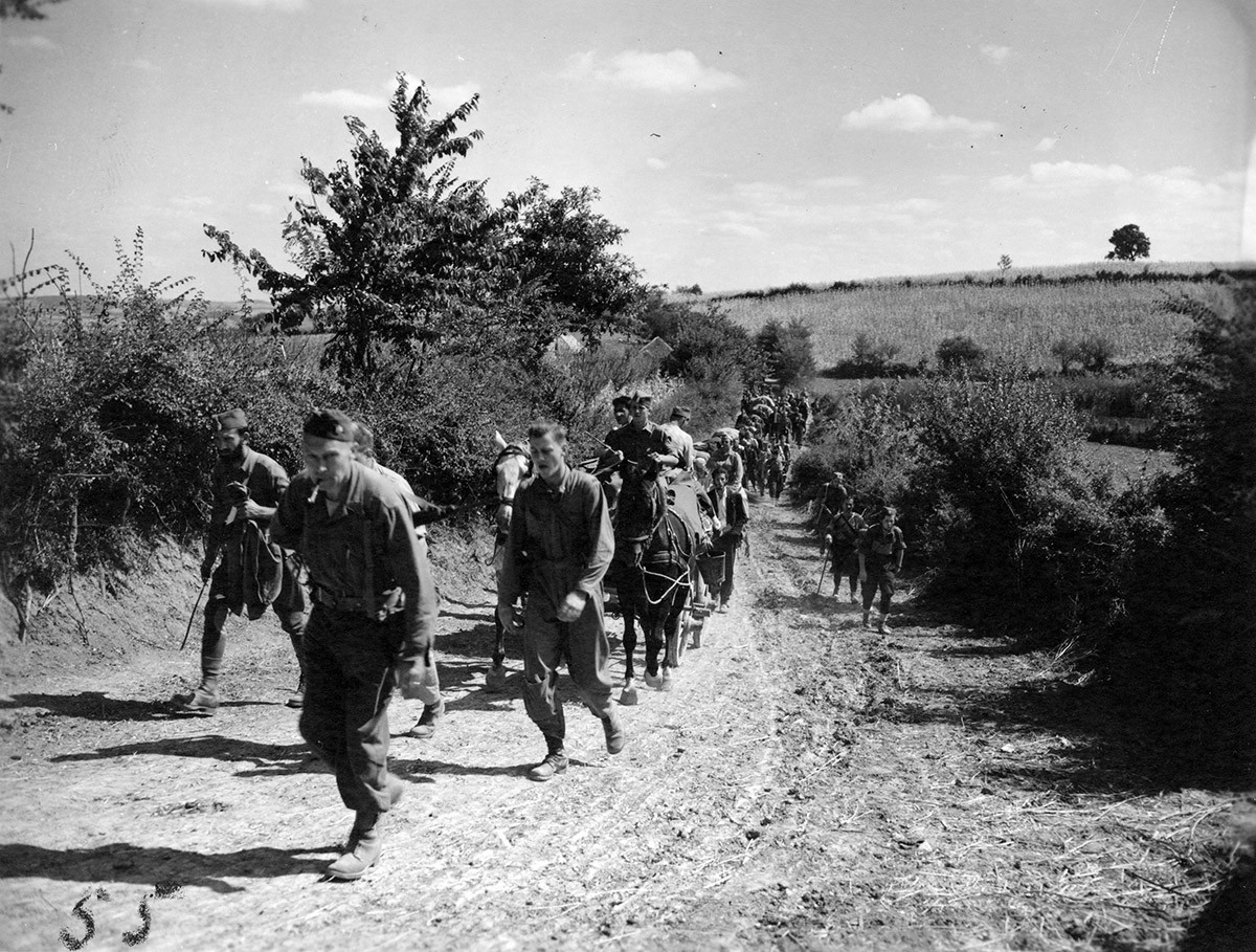 Halyard and ranger mission on the move from Pranjani to Koceljeva. 10 to 17 Sept. '44.