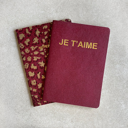 Set of 2 Leopard Notebook (x 10)