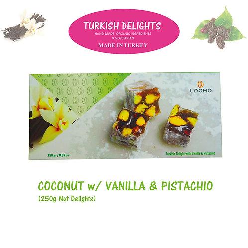 Coconut & Vanilla & Pistachio (250g, Non GMO, Organic) - Made in Turkey