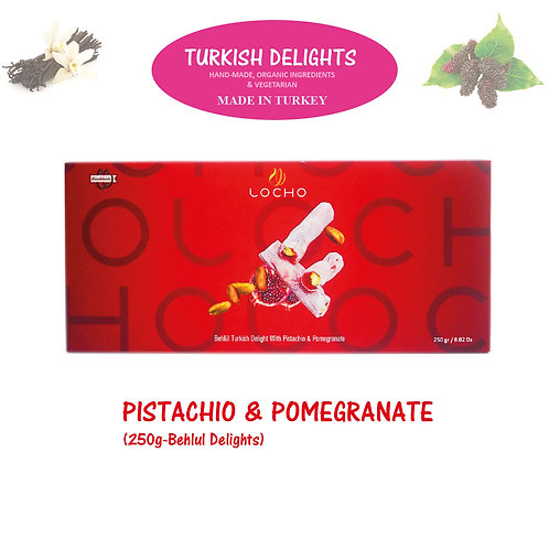 Pistachio & Pomegranate (250g Behlul, Non GMO, Organic) - Made in Turkey