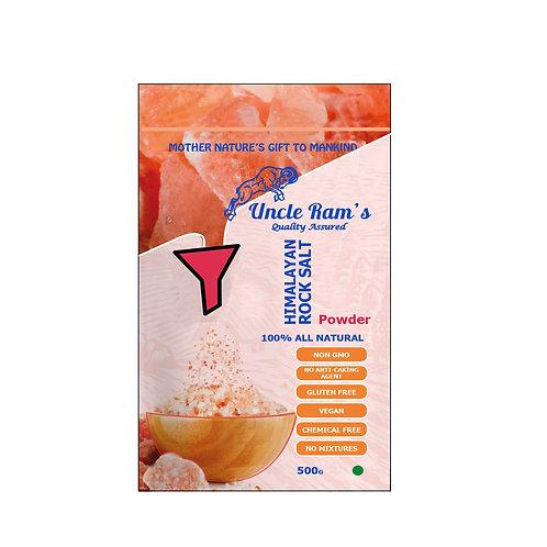 Uncle Ram's Himalayan Pink Salt - Powder (500g)