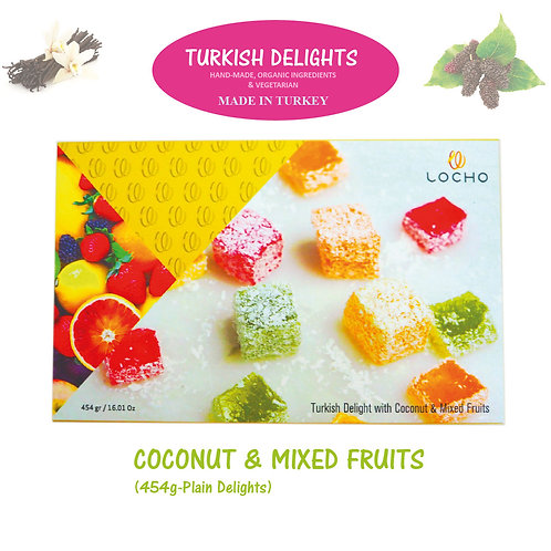 Coconut & Mixed Fruits (454g,Non GMO, Organic) - Made in Turkey