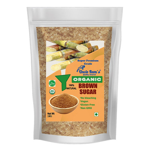 Uncle Ram's Organic Brown Sugar - 1KG