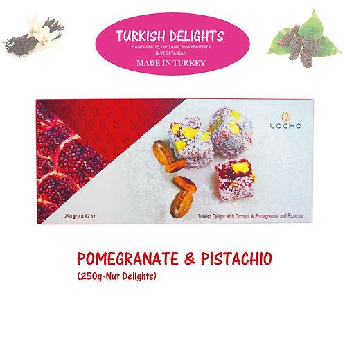 Coconut & Pomegranate & Pistachio (250g, Non GMO, Organic) - Made in Turkey