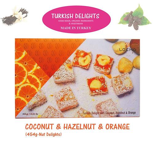 Coconut & Hazelnu & Orange (454g,Non GMO, Organic) - Made in Turkey