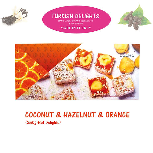 Coconut & Hazelnut & Orange (250g, Non GMO, Organic) - Made in Turkey