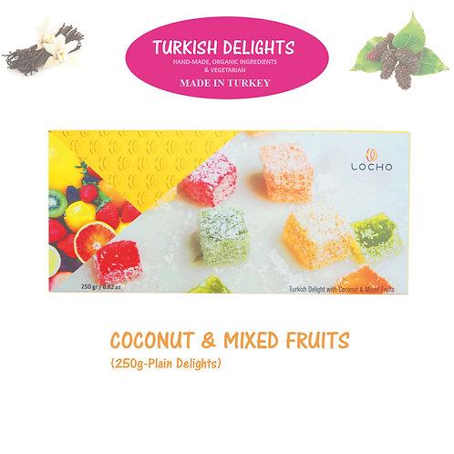 Coconut & Mixed Fruits (250g, Non GMO, Organic) - Made in Turkey