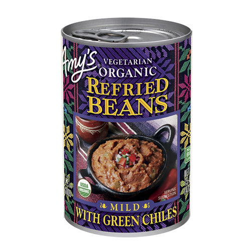 Amy's Kitchen Organic Mild Refried Bean with Green Chiles