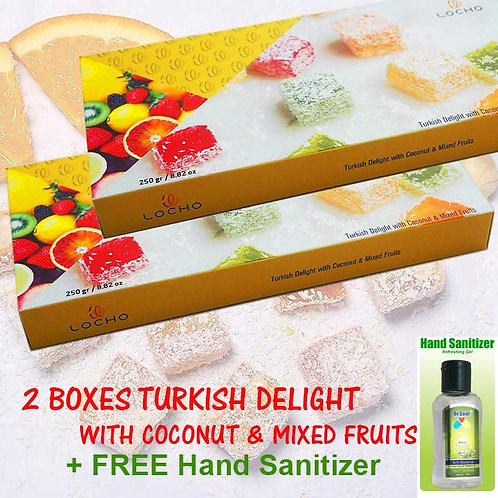 Coconut & Mixed Fruits  (2boxes + FREE Dr Soul Hand Sanitizer)