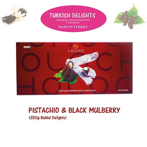 Pistachio & Black Mulberry (250g Behlul, Non GMO, Organic) - Made in Turkey
