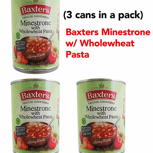 Baxters Minestrone with Wholewheat Pasta (3CANS)