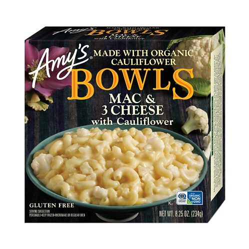 Amy's Kitchen Mac & 3 Cheese w/ Cauliflower Bowl