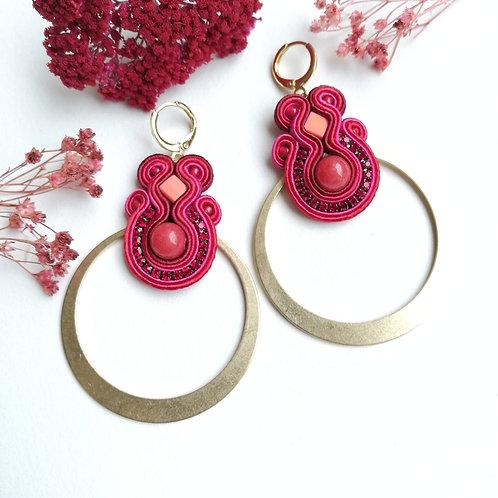 B. O. Créoles rouge, rose