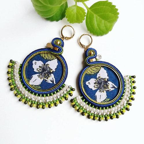 B. O. Créoles textiles. Lucia. Bleu