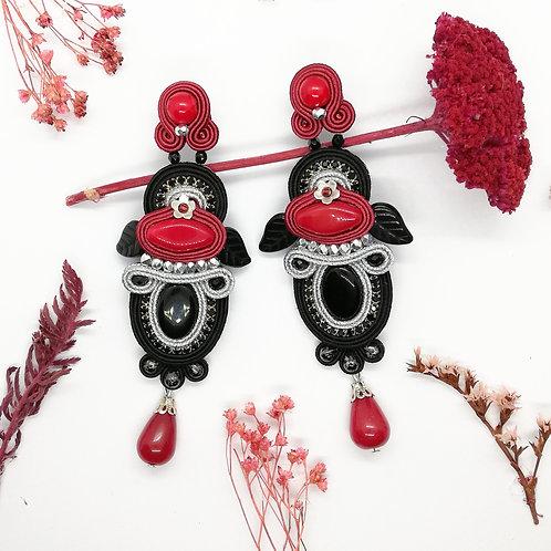 Grande B.O.  Haute Fantaisie rouge,noire, argent