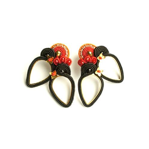 B.O. Oiseaux noir et rouge