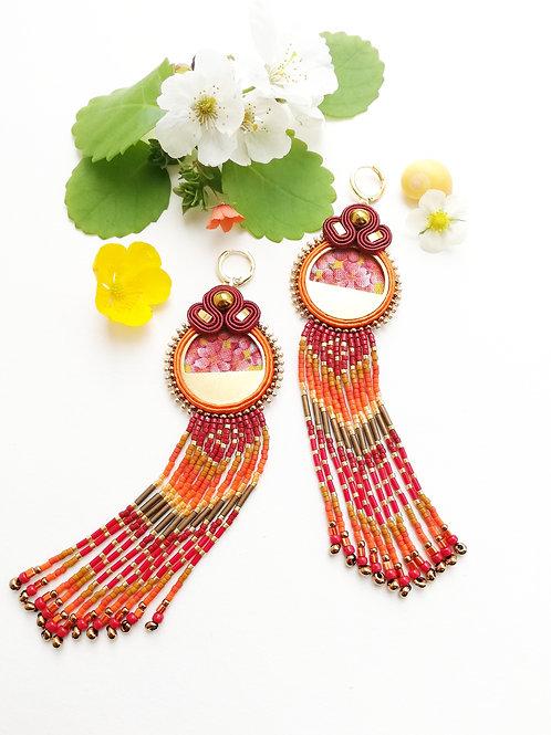 B.O. textile à franges perlées #2