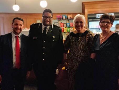 Māori Warden congratulates Te Omanga Hospice CEO on Wellys Award