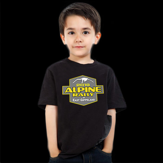 2019 Alpine Rally Kids T'shirt - Black