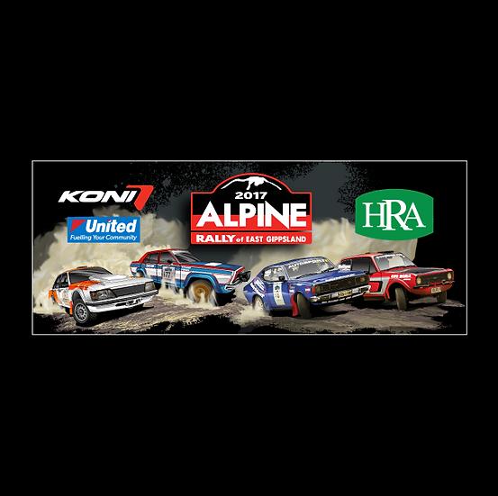 2017 Alpine Rally Cars Bumper Sticker