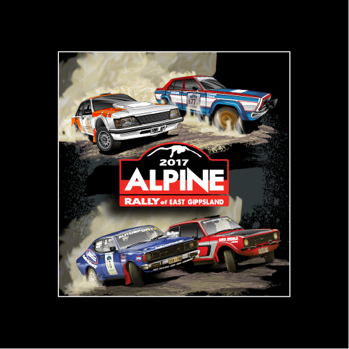 2017 Alpine Rally Cars Sticker