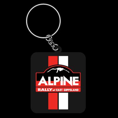 Alpine Rally Rubber Keyring