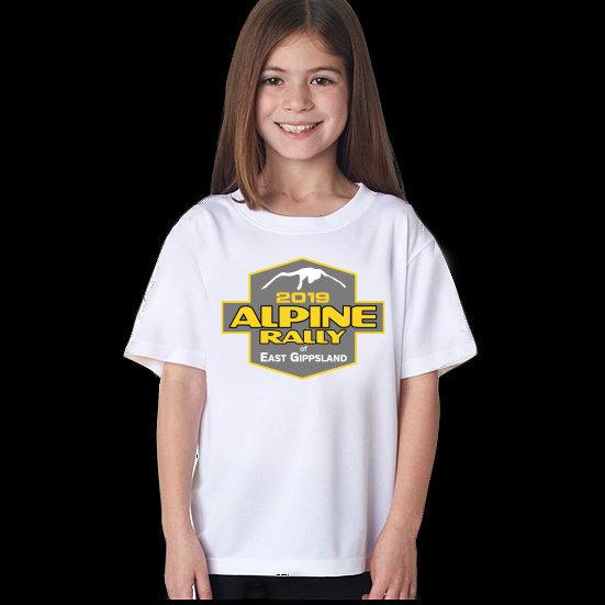 Alpine Rally Kids T'shirt - White