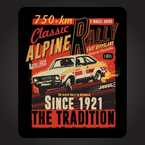 2019 Classic Alpine Rally Sticker Portrait