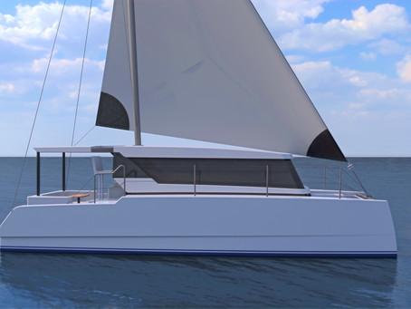 HopYacht and Dutoit Yacht Design, team up to create unique new slimline catamaran.