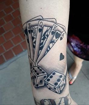 card tattoo by John