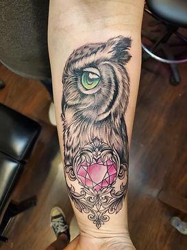 Owl tattoo by Judy