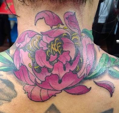peony tattoo by Kip