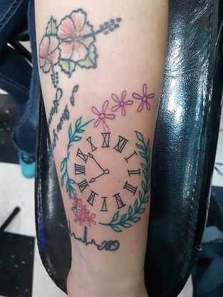 clock tattoo by John