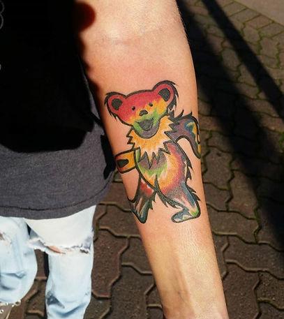 dancing bear tattoo by John