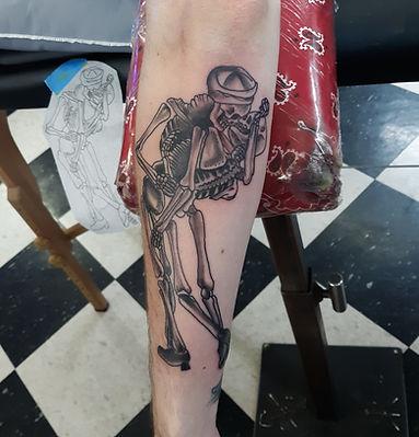 skeleton tattoo by John