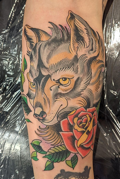 Wolf tattoo by Kip