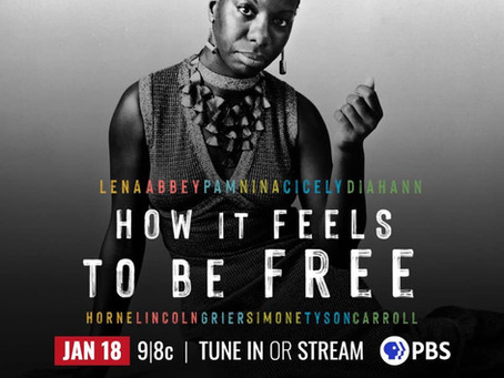 "Premiere of documentary ""How it Feels to be Free"" on Doc Channel and PBS American Masters"