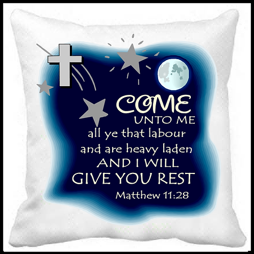 Come Unto Me Prayer Pillow