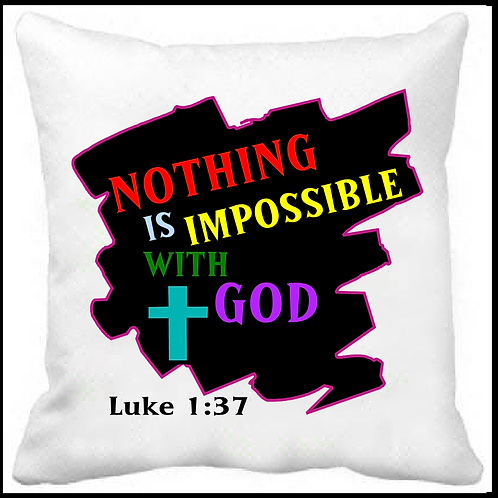 Nothing is Impossible Prayer Pillow